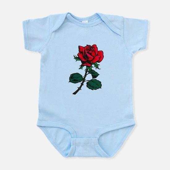 Red Rose Tattoo Infant Bodysuit