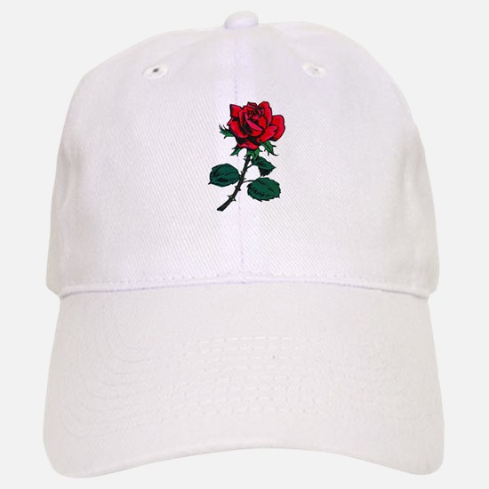 Red Rose Tattoo Baseball Baseball Cap