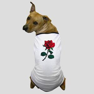 Red Rose Tattoo Dog T-Shirt
