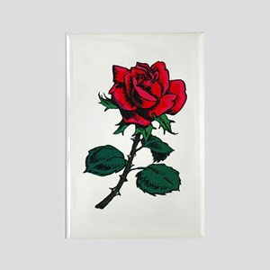 Red Rose Tattoo Rectangle Magnet