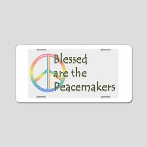 Blessed are the Peacemakers Aluminum License Plate