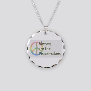 Blessed are the Peacemakers Necklace Circle Charm