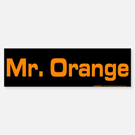 Reservoir Dogs Mr. Orange Sticker (Bumper)