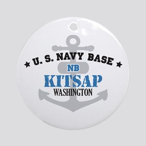 US Navy Kitsap Base Ornament (Round)