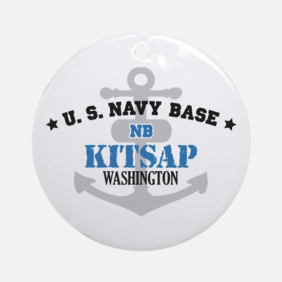 US Navy Kitsap Base Ornament (Round)
