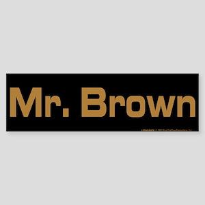 Reservoir Dogs Mr. Brown Sticker (Bumper)