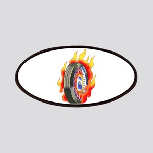 Fiery Wheel Tattoo Patches
