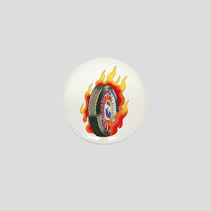 Fiery Wheel Tattoo Mini Button