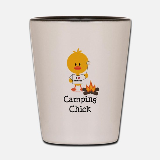 Camping Chick Shot Glass