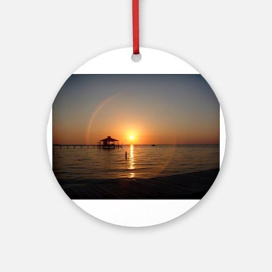 Sunset Cruise Ornament (Round)