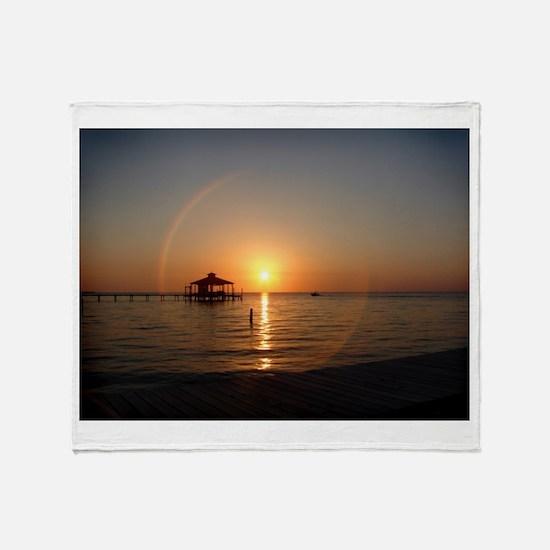 Sunset Cruise Throw Blanket