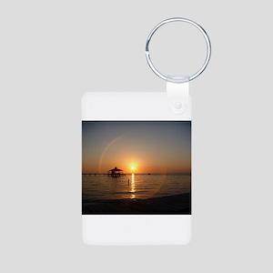 Sunset Cruise Aluminum Photo Keychain
