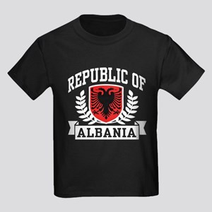Republic of Albania Kids Dark T-Shirt