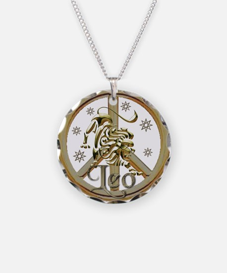 Leo Zodiac Peace Necklace