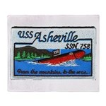 USS ASHEVILLE Throw Blanket