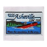 USS ASHEVILLE Throw Blanket