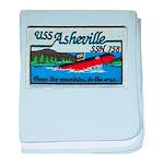 USS ASHEVILLE baby blanket