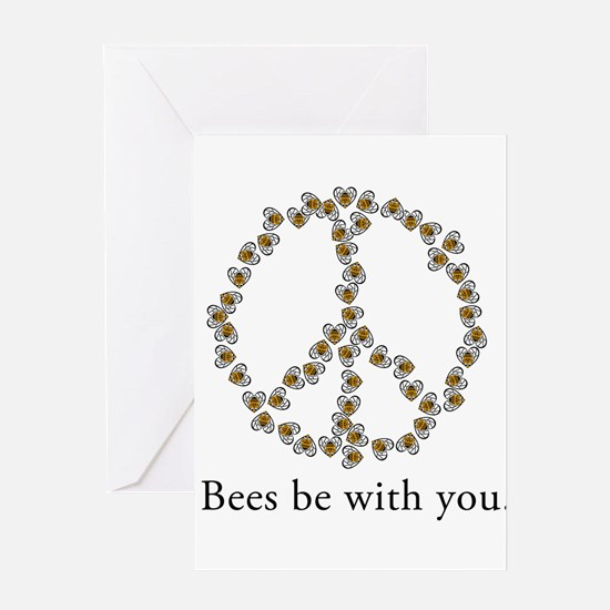 Bees be with you (peace symbo Greeting Card