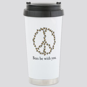 Bees be with you (peace symbo Stainless Steel Trav