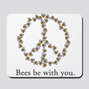 Bees be with you (peace symbo Mousepad