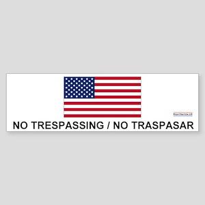 No Trespassing/No Traspasar Bumper Sticker