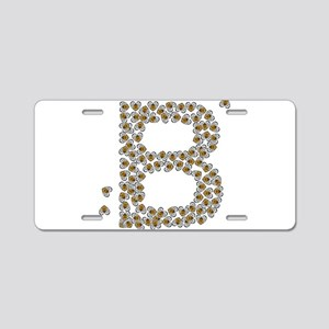 """B"" (made of bees) Aluminum License Plate"