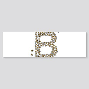 """B"" (made of bees) Sticker (Bumper)"