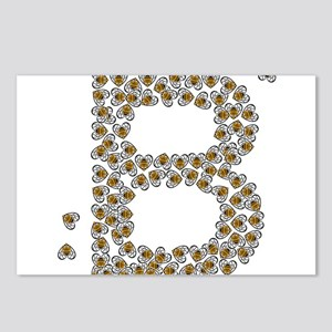 """""""B"""" (made of bees) Postcards (Package of 8)"""