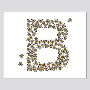 """""""B"""" (made of bees) Small Poster"""