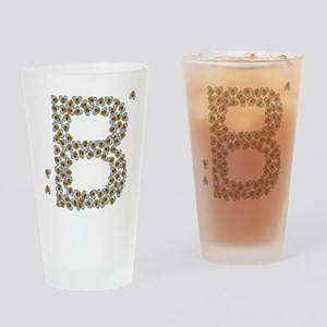 """B"" (made of bees) Drinking Glass"
