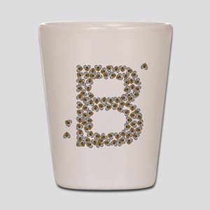 """B"" (made of bees) Shot Glass"