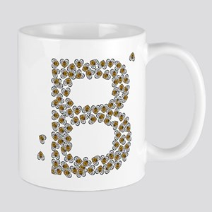 """B"" (made of bees) Mug"