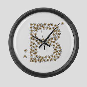 """""""B"""" (made of bees) Large Wall Clock"""