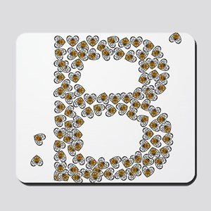 """B"" (made of bees) Mousepad"