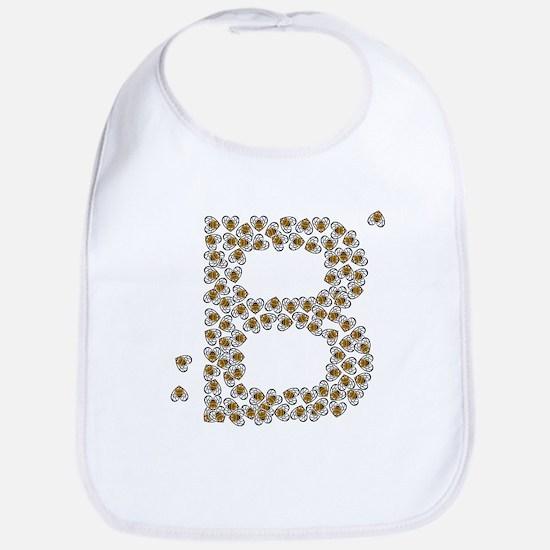 """B"" (made of bees) Bib"