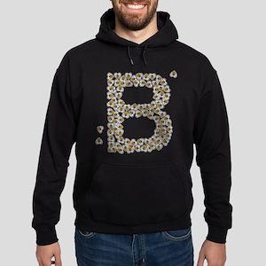 """""""B"""" (made of bees) Hoodie (dark)"""