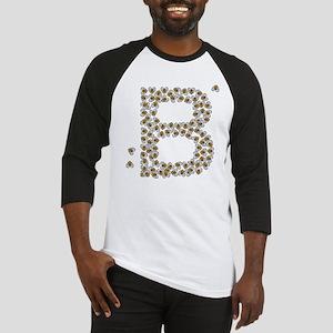 """B"" (made of bees) Baseball Jersey"