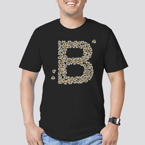 """""""B"""" (made of bees) Men's Fitted T-Shirt (dark)"""