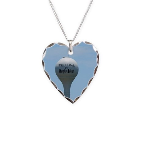 Welcome to Dauphin Island Necklace Heart Charm