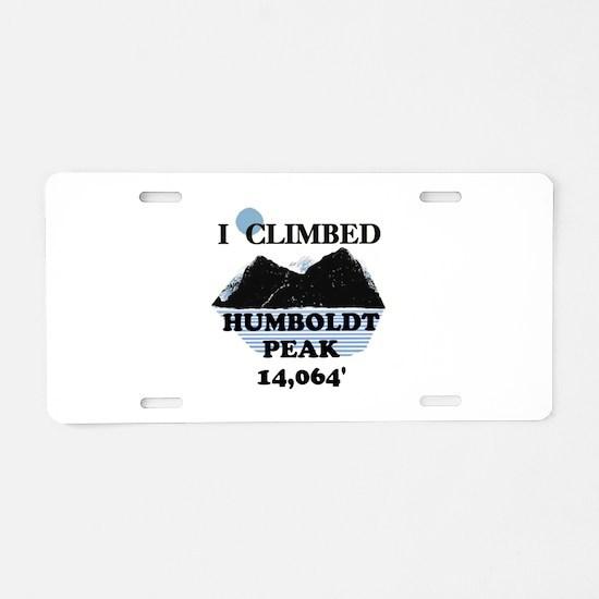 I Climbed HUMBOLDT PEAK Aluminum License Plate