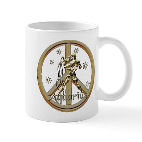 Aquarius Zodiac Peace Mug