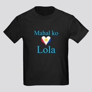 I Love Grandma (Filipino) Kids Dark T-Shirt