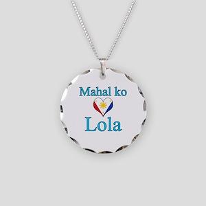 I Love Grandma (Filipino) Necklace Circle Charm