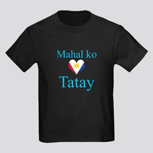 I Love Dad (2) (Filipino) Kids Dark T-Shirt