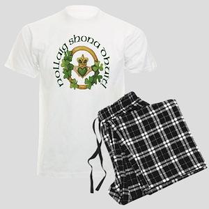 Christmas Claddagh Men's Light Pajamas