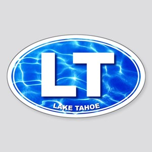 LAKE TAHOE Water - LT Oval Sticker