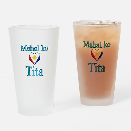 I Love Aunt (Filipino) Drinking Glass