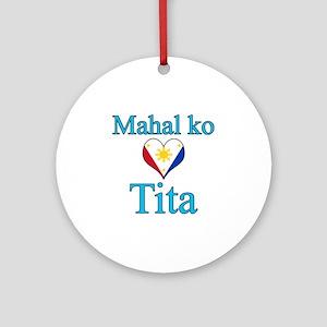 I Love Aunt (Filipino) Ornament (Round)