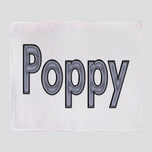 POPPY metal Throw Blanket