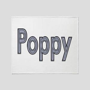 POPPY metal Throw Blanket